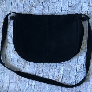 URBAN OUTFITTERS Black Suede Leather Purse